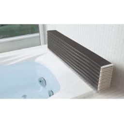 銀イオン配合 軽量・抗菌 折りたたみ式風呂フタ 119×70cm・重さ1.9kg (ウ)ダークブラウン(WEB)