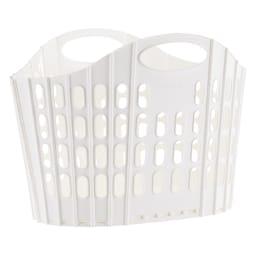 折りたたみバスケット2個セット (ア)ホワイト