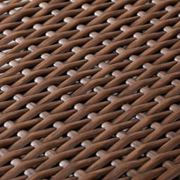 前後どちらからでも引き出せるラタン調ランドリーワゴン 2段 高さ80cm (ア)ブラウン ラタンそっくりの質感。天然素材特有のささくれがなく、通気性のよい編み方です。