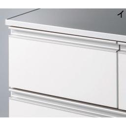 組立不要 水や汚れに強いステンレス天板 サニタリーチェスト 幅45cm・奥行45cm (イ)清潔感のあるホワイト。