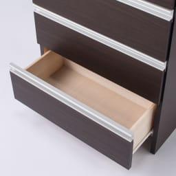 組立不要 水や汚れに強いステンレス天板 サニタリーチェスト 幅60cm・奥行45cm タオル収納や洗面化粧台まわりの小物収納。衣類チェストとしても使いやすいフラットな内部構造。 ダークブラウン色。