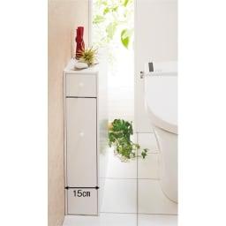 12ロール収納 スライド薄型トイレラック トイレの収納を増やしたいけど、設置場所がないという方におすすめのトイレラックです。
