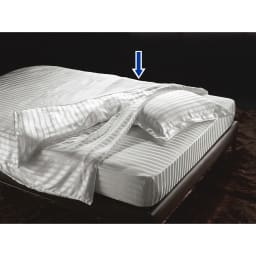 オールシルクシリーズ サテン織り掛け布団カバー シングルサイズ