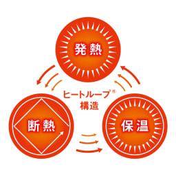 【ディノス限定販売】ヒートループ(R)DX お得な掛け敷きセット ヒートループ(R)DXのここがスゴイ! 3つのあったか効果がループして驚異的な暖かさに!