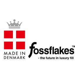デンマーク製 フォスフレイクス 安眠枕 お得な「テンセル混」枕カバー付きセット フォスフレイクスは「夢の人造羽毛」としてデンマークで発明された特許素材です。