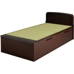 絨毯のような長いモノも収納できる!跳ね上げ式収納畳ベッド ヘッド付き(高さ80・床面まで41cm) ※写真はシングルロングタイプです。