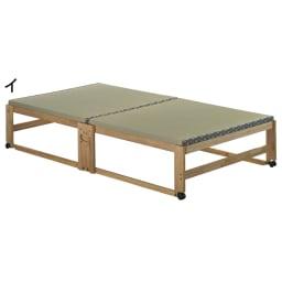 畳空間を簡単に演出できる折りたたみベッド ハイタイプ(棚なし) (イ)ナチュラル ※写真はシングルハイタイプです。