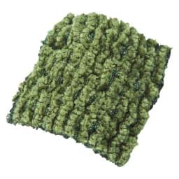 イタリア製フィットカバー〈ヴェルート〉 オットマンカバー Texture「ヴェルート」…シェニール糸のソフトな肌触りと光沢感。立体感のある織りで表現されたストライプがソファをグレードアップ。
