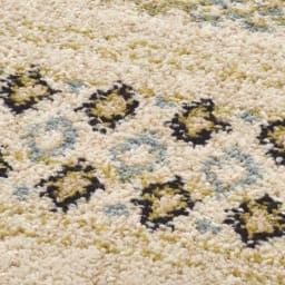 ベルギー製ウィルトン織りラグ〈ジーバ〉 [素材アップ]ウールのような風合いの太めの糸を使用しています