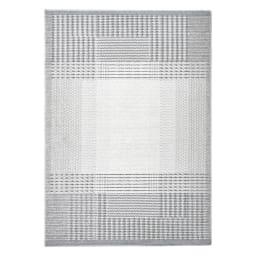 防ダニモノトーンラグ〈フィルナス〉 (イ)グレー系・約130×185cm