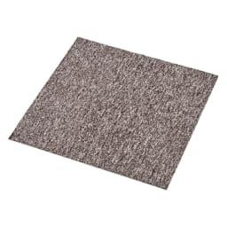 モダンタイルカーペット(約50cm角) 1セット(同色8枚組) (ウ)ブラウン系