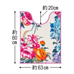 デザイナーズギルドトイレマット〈フレグランス〉 (ア)ピンク系 大判