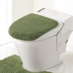 PLYS(プリス)乾度良好トイレタリー フタカバー(洗浄暖房器用) (イ)グリーン系