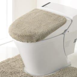PLYS(プリス)乾度良好トイレタリー フタカバー(洗浄暖房器用) (ア)ベージュ系