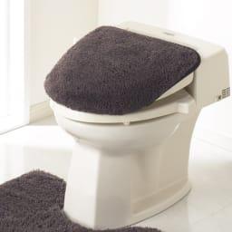 PLYS(プリス)乾度良好トイレタリー フタカバー(洗浄暖房器用) (エ)ブラウン系
