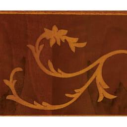 イタリア製象がんシリーズ 2段テレビ台チェスト・幅75cm 象がんとは、異なる素材を組み合わせて花柄などの紋様を表現する伝統技法。