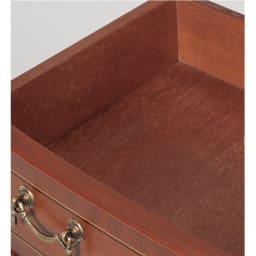 ベネチア調象がんシリーズ コンソール 引き出しは、内装にも丁寧な塗装を施した贅沢な仕上がりです。