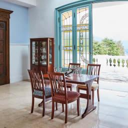 ベネチア調象がんシリーズ 伸長式ダイニングテーブル 使用イメージ(通常時) ※お届けは伸長式ダイニングテーブルです。