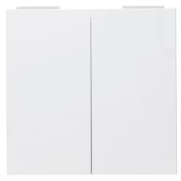 美しく飾れる 収納システム 高さサイズオーダー対応突っ張り上置き(1cm単位) 幅80cm (高さ25~80cm) (ア)ホワイト ※お届けする商品です。