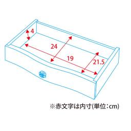イタリア製 コンパクト収納家具シリーズ コンソールテーブル 詳細図(単位:cm)