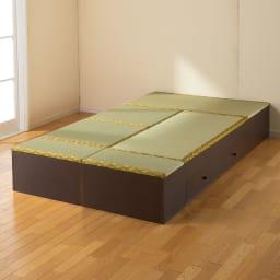 ユニット畳シリーズ 1畳 高さ31cm 高さ31cmの組み合わせ例【手前からミニ×2・半畳×2・1畳引出し付き・一畳の組み合わせ】