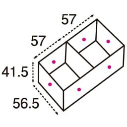 ユニット畳シリーズ 1畳 高さ45cm (単位:cm) 点線は有効内寸です。