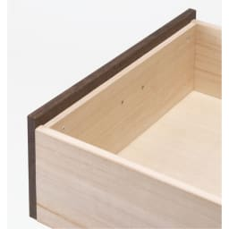 総桐民芸箪笥 3段・幅100高さ63.5cm たとう紙が入る引き出しは箱組仕様。