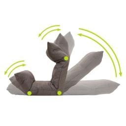 [国産]ふんわりハイバック座椅子ソファデラックスワイド  頭部・背部=5段階、脚部=2段階リクライニング