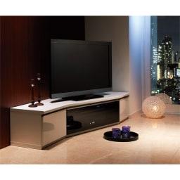 住宅事情を考えたコーナーテレビボード 幅165cm・左コーナー用(左側壁用) (ア)ホワイト ※写真は幅165・右コーナー用です。