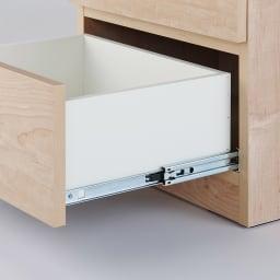 天然木調テレビ台ハイバックシリーズ オープンキャビネット・幅45.5奥行34.5cm 引き出しは開閉のスムーズなスライドレール付き。(※お届けの色とは異なります)
