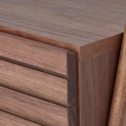 天然木シェルフテレビ台シリーズ テレビ台 幅110cm (イ)ダークブラウン 素材はウォルナット天然木の突板です。