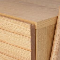 天然木シェルフテレビ台シリーズ テレビ台 幅135cm (ア)ナチュラル 素材はオーク天然木の突板です。