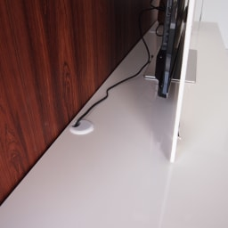 パモウナBW-120 輝く光沢のモダンリビングシリーズ テレビ台 幅120cm 天板後方に配線コード穴つき。配線がごちゃつきません。