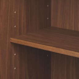 テレワークにも最適! 天然木格子 リビングボードシリーズ PCキャビネット 幅80cm 6cm間隔で調節できる可動棚。