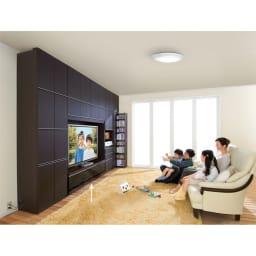 まるで映画館を独り占めの気分!シアター壁面収納システム テレビボード 幅150cm 一家団欒の楽しいリビングルームに変身!※写真は上置きとの組合せです。