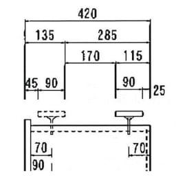 オーダー対応突っ張り式上置き(1cm単位) 幅120cm・高さ51~78cm