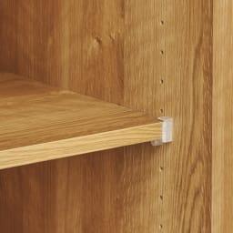 天然木調 リビング壁面収納シリーズ 収納庫 扉・引き出しタイプ 幅29cm 収納物に合わせて3cm間隔で調節可能。