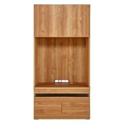 天然木調 リビング壁面収納シリーズ テレビ台 ミドルタイプ 幅89.5cm 扉を閉じると木目の美しさが際立ちます。