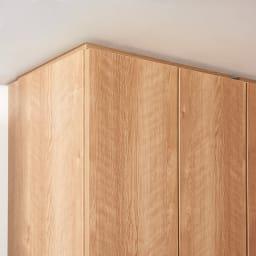 天然木調リビング壁面収納シリーズ オーダー対応突っ張り式上置き(1cm単位) 幅57.5cm・高さ26~90cm