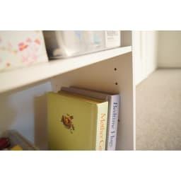 [国産] 塾や習い事の物までひとまとめワゴン(ランドセルラック) 右下のマルチ収納部は、3cmピッチで可動します。