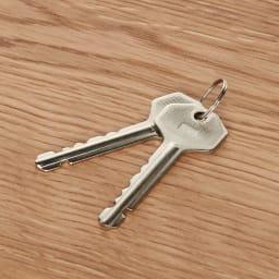 奥行40cm 全ての収納は鍵付き!秘密を守るデスクシリーズ デスク・幅90cm 鍵はスペアとあわせて2本付いてきます。