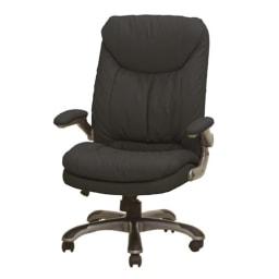 ふんわりソファーのような昇降回転チェアー (イ)ブラックは、オフィスユースとしても。