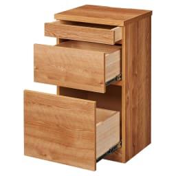 天然木調薄型コンパクトオフィスシリーズ サイドチェスト・幅40cm 商品イメージ