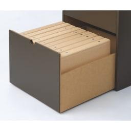 幅30cm 書類を細かく収納できるデスクサイドラックシリーズ 下台・トレータイプ 深引き出しはA4ファイルが入ります。