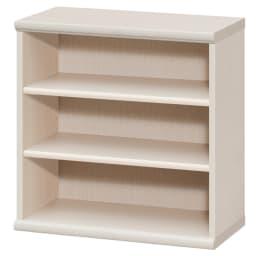 色とサイズが選べるオープン本棚 幅59.5cm高さ60cm (ア)ライトナチュラル
