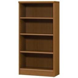 色とサイズが選べるオープン本棚 幅59.5cm高さ117cm (ウ)ブラウン