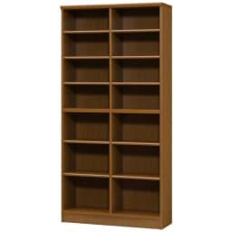 色とサイズが選べるオープン本棚 幅86.5cm高さ178cm (ウ)ブラウン