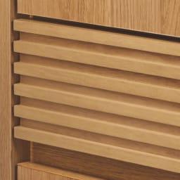 【完成品】木目が美しい引き出し付き本棚 オープンタイプ 幅60cm 引き出しの前板は美しい格子柄。