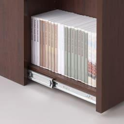 大容量収納!組立不要 スライド式すき間収納庫 ディスプレイタイプ 2列 開閉スムーズなフルスライドレールを採用。
