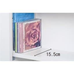 大容量収納!組立不要 スライド式すき間収納庫 ディスプレイタイプ 2列 CDの限定版などケースの大きい物が入らないというお悩みの声から開発。